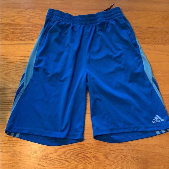 Youth Adidas performance athletic shorts. Blue. adidas.  M 5bfadd39f63eea6c292ecd45. M 5bfadd1b04e33de9afb4dcfe.  M 5bfadd274ab6331548d785eb 34d4612778
